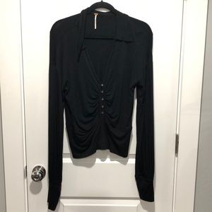 Free People long sleeved collared top